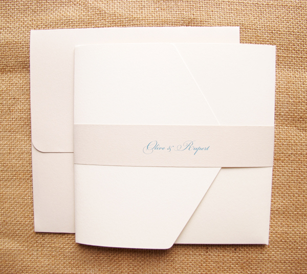 Envelope and invitaion with paper band