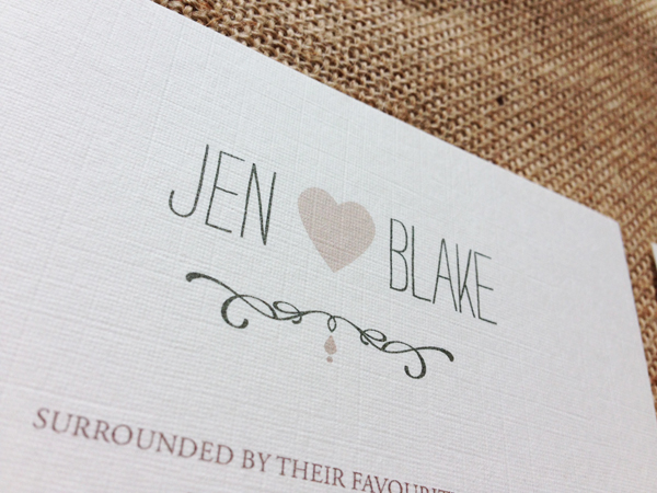 jen blake s rustic tweed themed wedding invitations