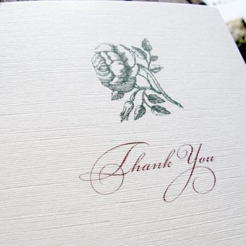 Broderie Wedding thank you card