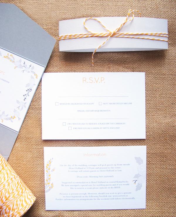 Bespoke invitation set