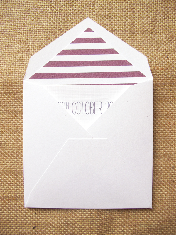 Striped envelope liners