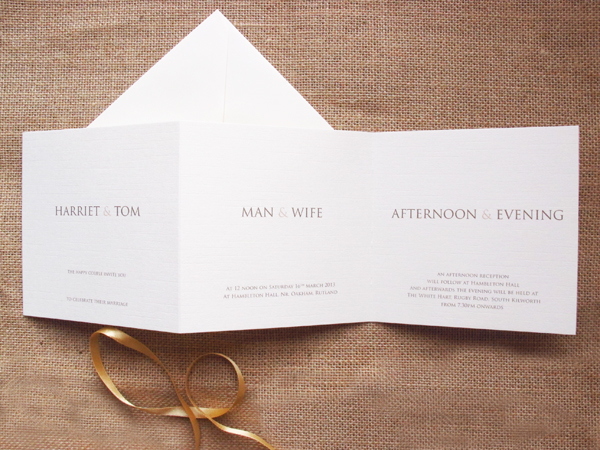 Concetina Man & Wife invitations