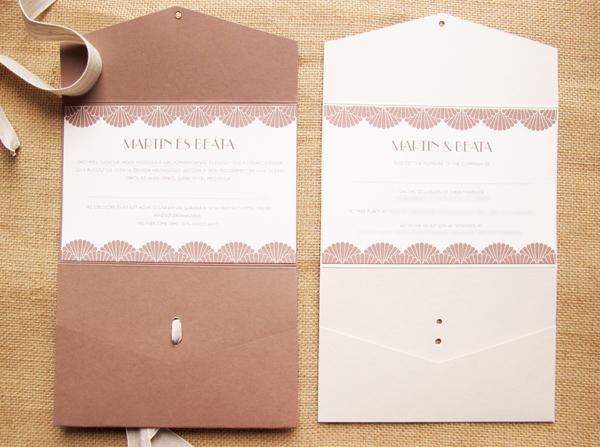 Bilingual Wedding Invitations: Contemporary Wedding Stationery Boutique
