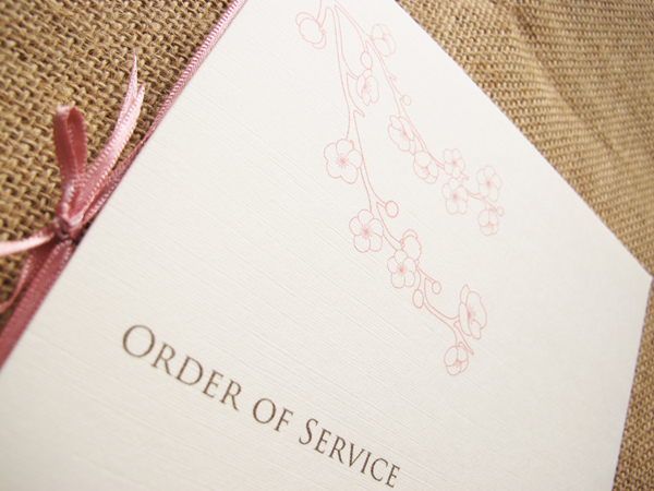 Dusky Pink order of service
