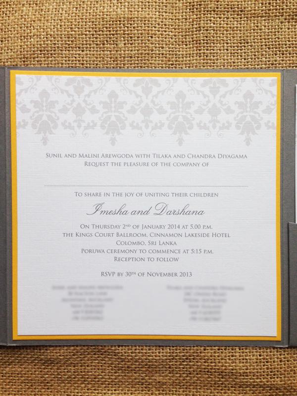 The perfect balance – traditional/modern wedding invitations