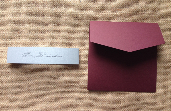 Invitation And Belly Band