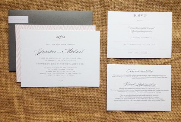 Monogram-invite-set