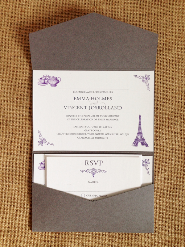Bespoke-purple-and-grey-french-and-english-wedding-invitations