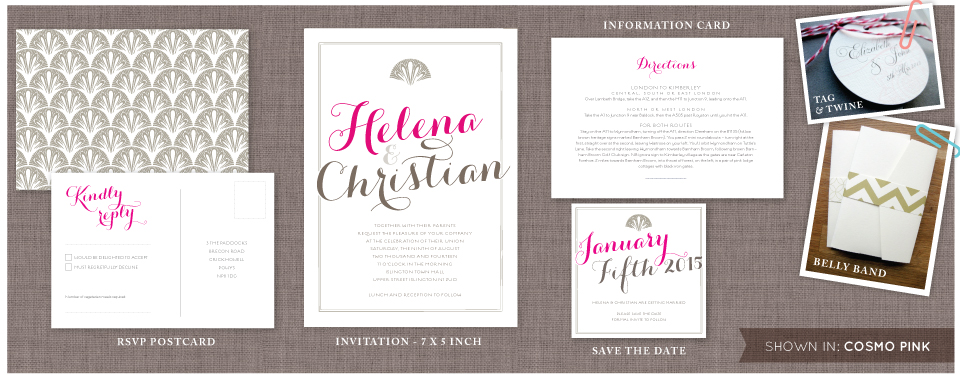Chicago Wedding invitation set