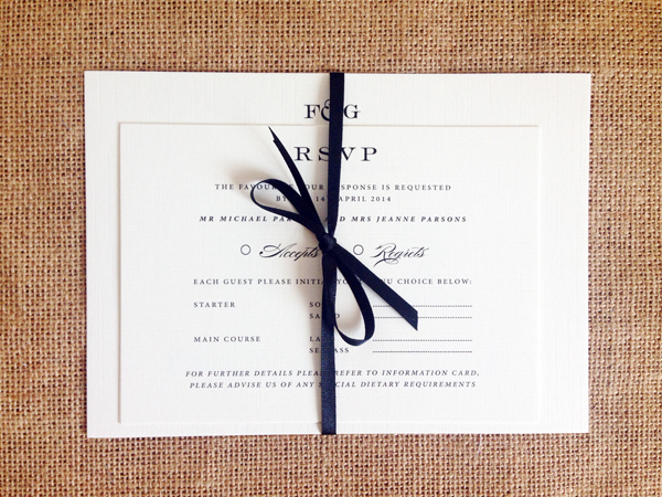 Monogram-invite-set-with-ribbon