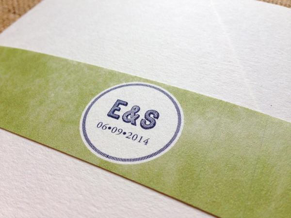 emma simon navy and green contemporary invitations