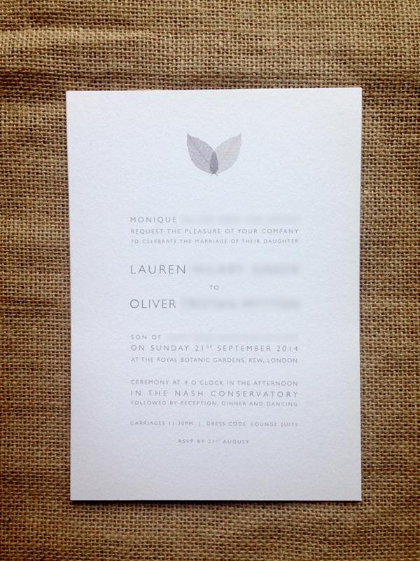 Leaf-invite