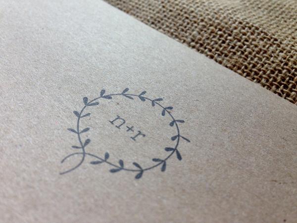 Clearing-emblem-on-kraft-envelope