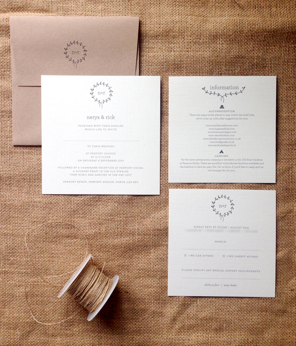 Clearing-invite-with-printed-envelope-infocard-and-rsvp