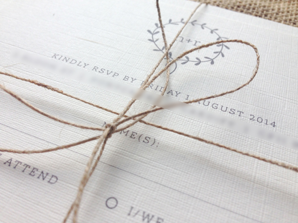 Clearing-invites-with-hemp-twine