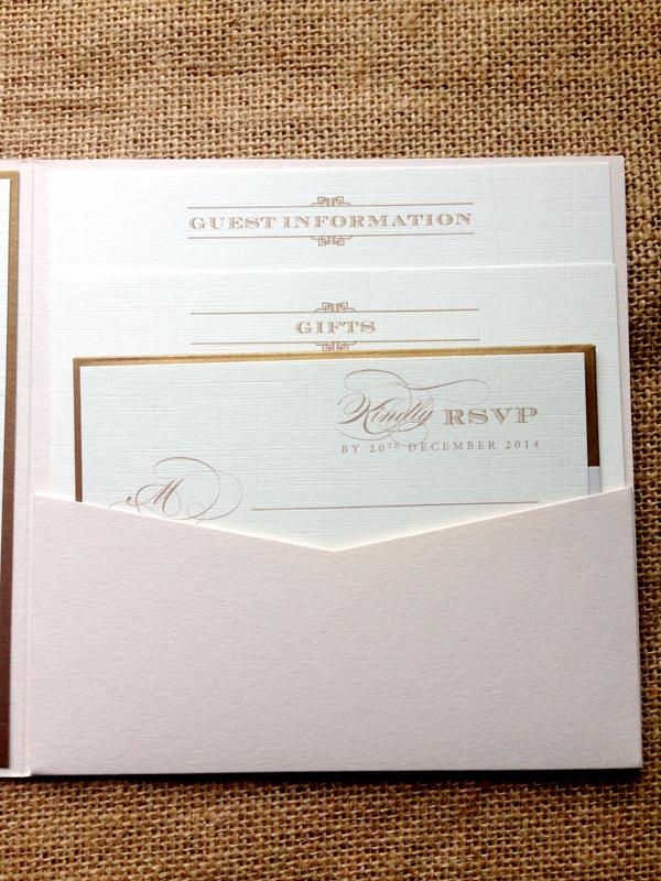 Bespoke-deco-staggered-infocards-and-gold-RSVP-envelope