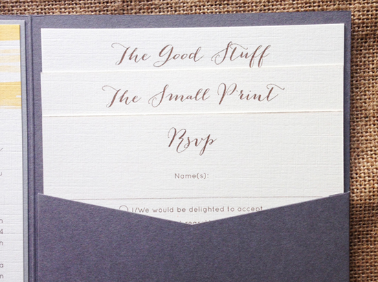Wedding Invite Information: Contemporary Wedding Stationery Boutique
