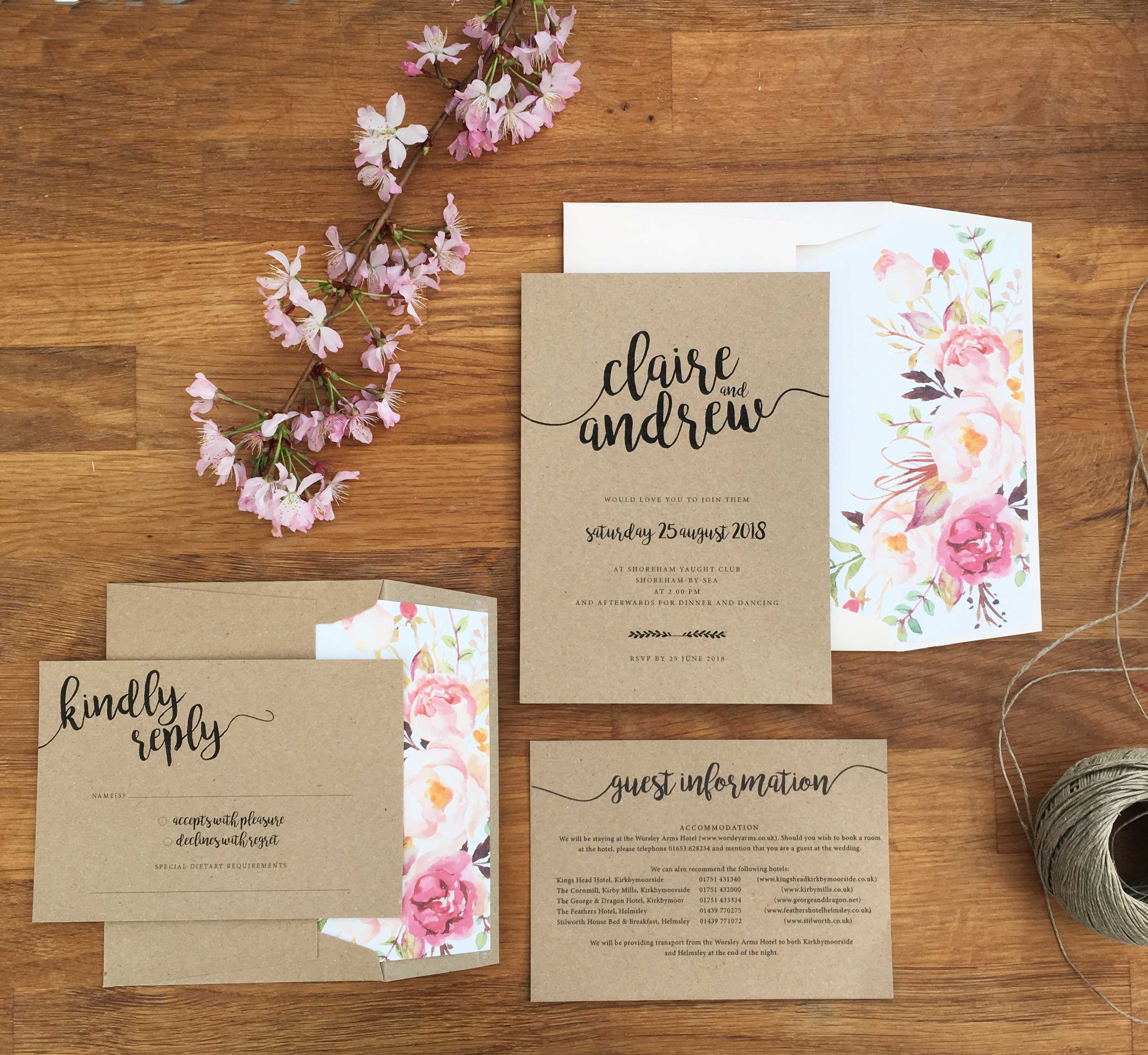 Envelope Liners | Contemporary Wedding Stationery Boutique