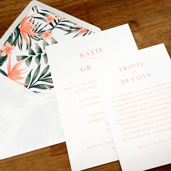 Bird Of Paradise Flower Wedding Invitations