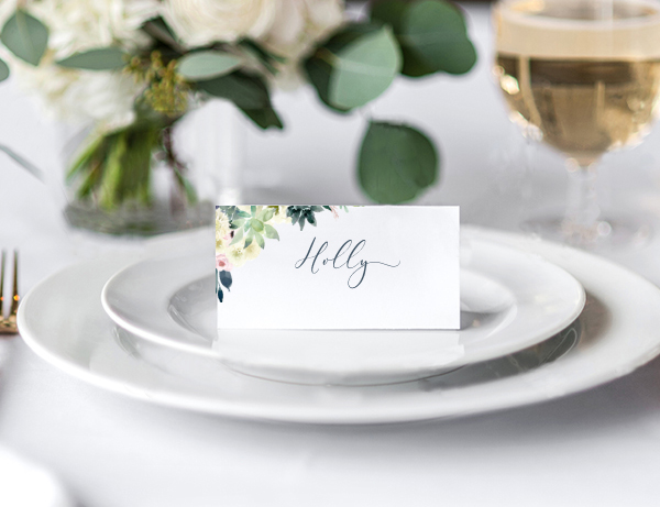 Succulent wedding stationery