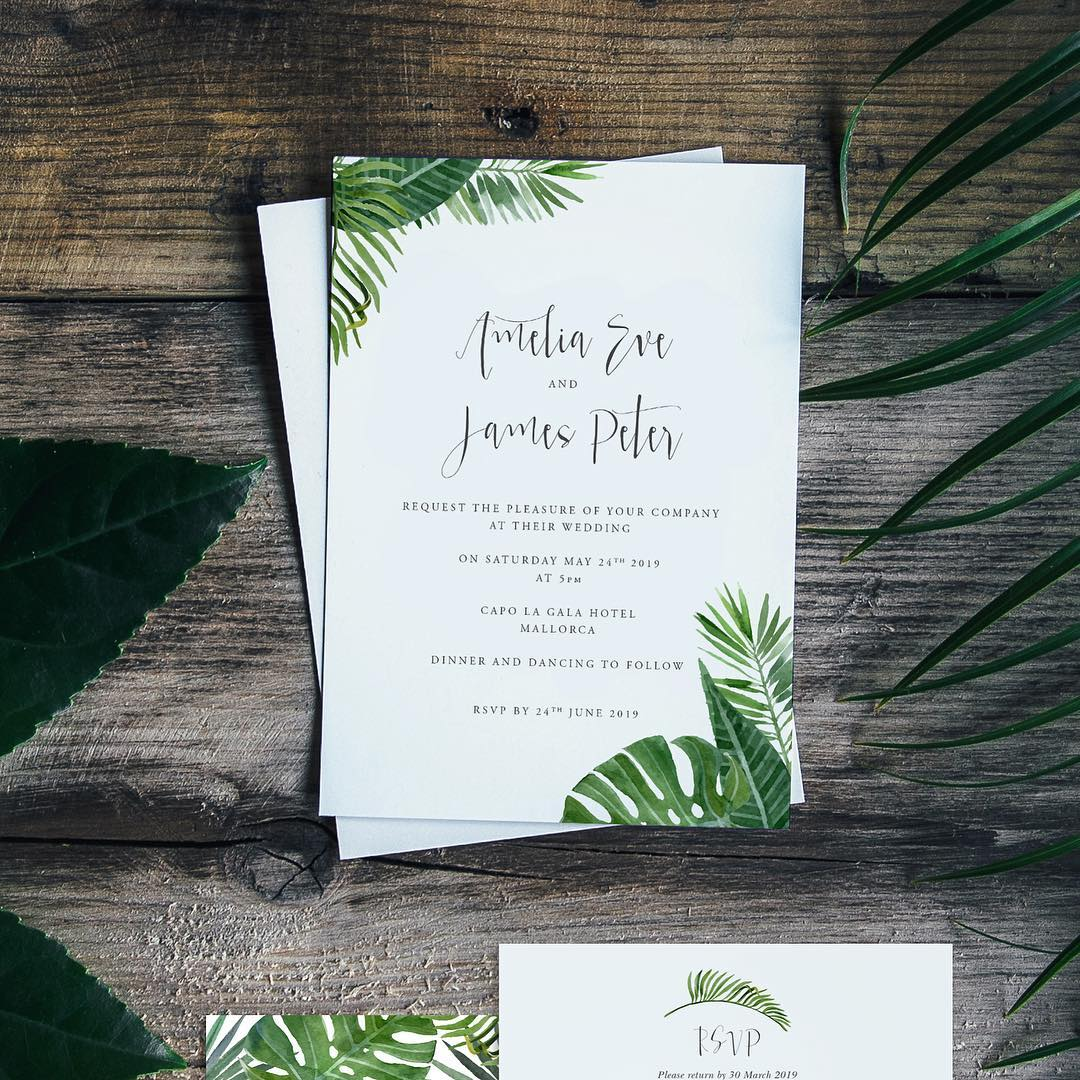 Contemporary Wedding Stationery Boutique Tropical Love For