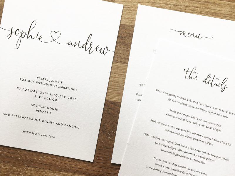 Contemporary Wedding Stationery Boutique | Contemporary